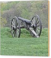 Cannon On Culp's Hill Wood Print