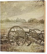 Cannons At Pea Ridge Wood Print