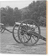 Cannons On Manassas Battlefield Wood Print