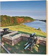 Cannons Overlooking The River Wood Print