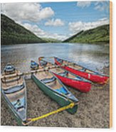 Canoe Break Wood Print by Adrian Evans