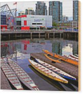 Canoe Club And Telus World Of Science In Vancouver Wood Print
