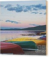 Canoe Colourama Wood Print