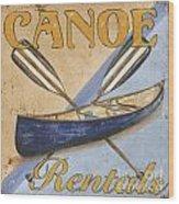 Canoe Rentals Wood Print