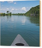 Canoe Ride Wood Print