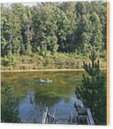 Canoeing Michigan's Au Sable Wood Print