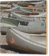 Canoes 143 Wood Print