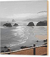 Canon Beach Wood Print