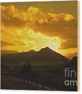 Canon City Sunset Wood Print