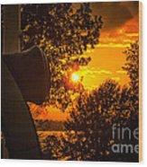 Canon Sunset Wood Print