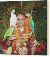 Can't Get Brighter Than This  Artist Navinjoshi In Hawaii Travel Vacations With Trained Parrots By P Wood Print