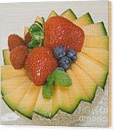 Cantaloupe Breakfast Wood Print