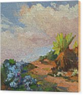 Canterbury Bells Joshua Tree Wood Print