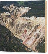 Canyon And Yellowstone Falls Wood Print