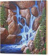 Canyon Cascade Wood Print