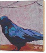 Canyon Crow Wood Print