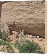 Canyon De Chelly Ruins Wood Print