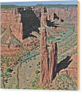 Canyon De Chelly - Spider Rock Wood Print