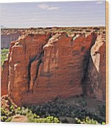Canyon De Chelly - View From Sliding House Overlook Wood Print by Christine Till