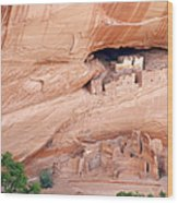 Canyon De Chelly White House Ruins Wood Print by Christine Till