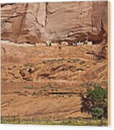 Canyon Dechelly Whitehouse Ruins Wood Print
