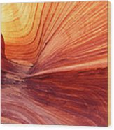 Canyon Kissed By The Sun Wood Print