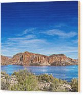 Canyon Lake Panorama Wood Print