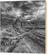 Canyon Light And Clouds Wood Print