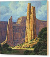 Canyon Light Wood Print by Randy Follis