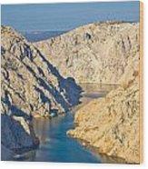 Canyon Of Zrmanja River In Croatia Wood Print