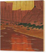 Canyon Reflection Wood Print
