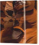 Canyon Sunbeam 1 Wood Print by Domenik Studer