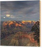 Canyon Sunset Wood Print