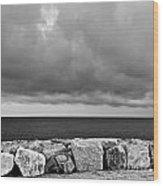 Caorle Dream Black And White Wood Print