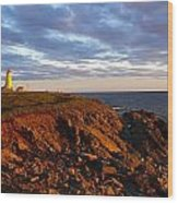 Cape Anguille Lighthouse Wood Print