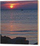 Cape Charles Rocky Sunset  Wood Print