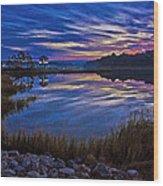 Cape Charles Sunrise Wood Print
