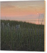 Cape Cod Bay Sunset Wood Print