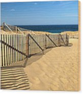 Cape Cod Beach Wood Print