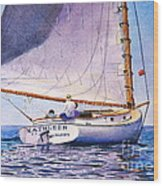 Cape Cod Catboat Wood Print
