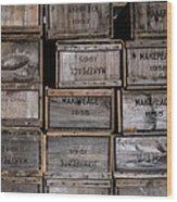 Cape Cod Cranberry Crates Wood Print