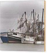 Cape Cod Fishing Boats Wood Print