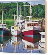 Cape Cod Harbor  Wood Print