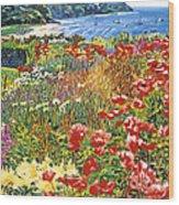 Cape Cod Ocean Garden Wood Print
