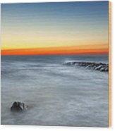 Cape Cod Sunrise Wood Print by Bill Wakeley