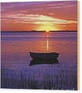 Cape Cod Sunrise Wood Print by John Greim