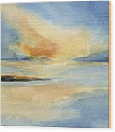 Cape Cod Sunset Seascape Painting Wood Print
