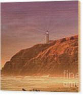 Cape Disappointment After The Storm Wood Print