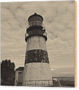 Cape Disappointment Lighthouse 2 Wood Print