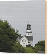 Cape Elizabeth Light I Wood Print